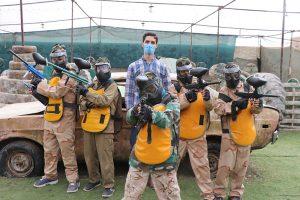 مبارزه پینت بالی دانش آموزان   ورزش و نشاط