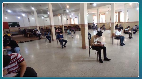 برگزاری امتحانات حضوری پایان ترم پایه دوازدهم با رعایت شیوه نامه های بهداشتی